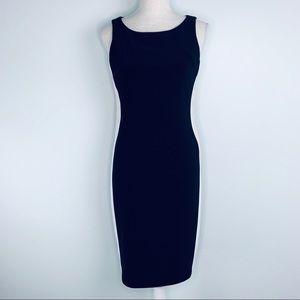 NWT Joseph Ribkoff Black Dress with Stripe Sides 4